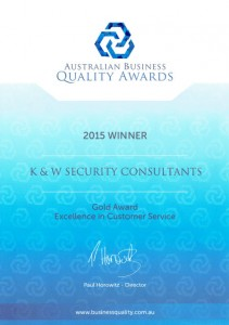 Australian Business Quality Award for Excellence in Customer Service